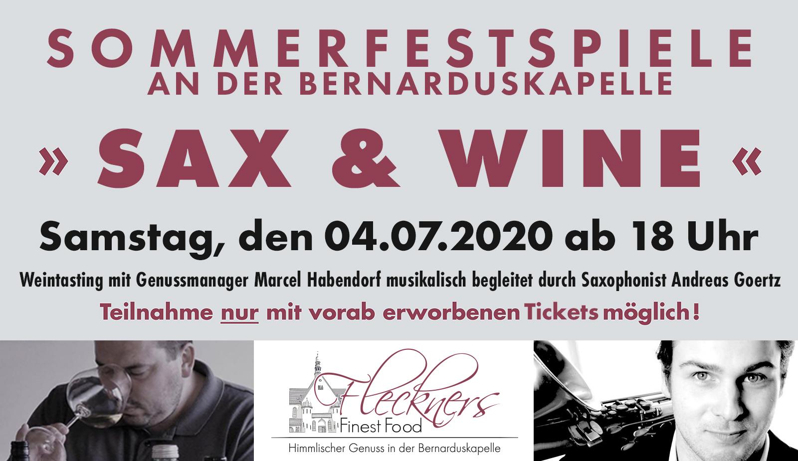 Sommerfestspiele an der Bernarduskapelle - Sax & Wine